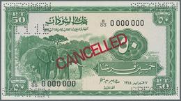 Sudan: 50 Piastres 1968 Specimen P. 7cs In Condition: UNC. - Soudan