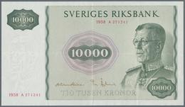 Sweden / Schweden: 10.000 Kronor 1958, P.56, Highest Denomination Of The Swedish Kronor And A Highli - Sweden