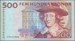 Sweden / Schweden: 500 Kronor ND P. 58, Used With Light Vertical Folds, Light Handling In Paper, No - Suède
