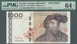 Sweden / Schweden: 1000 Kronor ND(2005) SPECIMEN, P.67s In Almost Perfect Condition, PMG Graded 64 C - Suède