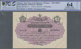 Turkey / Türkei: 20 Piastres ND(1912) Specimen P. 80s In Condition: PCGS Graded 64 Choice UNC. - Turquie