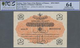 Turkey / Türkei: 20 Piastres ND(1916-17) Specimen P. 88s RS-4-4, With Zero Serial Numbers And Specim - Turquie