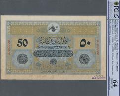 Turkey / Türkei: Rare Specimen Banknote Of 50 Livres ND(1916-17) AH1332, RS-4-9-1, With German Speci - Turquie
