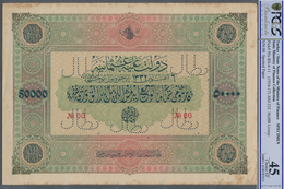 Turkey / Türkei: Highly Rare Specimen Banknote Of 50.000 Livres ND(1916-17) AH1332, RS-4-11, With Ar - Turquie