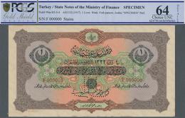 Turkey / Türkei: 1 Livre ND(1917) Specimen P. 99as, Rare Note With Zero Serial Numbers And Specimen - Turquie