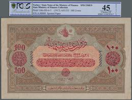 Turkey / Türkei: 100 Livres ND(1917) Specimen P. 106s With Zero Serial Numbers And Specimen Perforat - Turquie