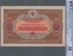 Turkey / Türkei: Rare Specimen Banknote Of 100 Livres ND(1918) AH1332, RS-7-1, With German Specimen - Turquie