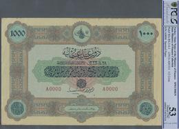 Turkey / Türkei: Rare Specimen Banknote Of 1000 Livres ND(1912) AH1331, P. 107s, RS-6-4, With Arabic - Turquie