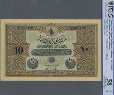 Turkey / Türkei: Rare Specimen Banknote Of 100 Livres ND(1918) AH1334, RS-3-1, With German Specimen - Turquie