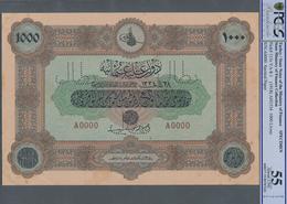 Turkey / Türkei: Rare Specimen Banknote Of 1000 Livres ND(1918) AH1334, VA-8-1, With Arabic Specimen - Turquie