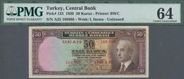 Turkey / Türkei: 50 Kurus 1930, P.133, PMG 64 - Turquie