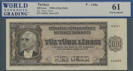 Turkey / Türkei: 100 Lira L.1930 (1942), P.144a, WBG Graded 61 Uncirculated - Turquie
