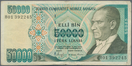 Turkey / Türkei: 50.000 Lira 1989 P. 203B, Rarer Issue, Used Condition With Folds And Creases, Light - Turquie
