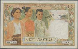 French Indochina / Französisch Indochina: 100 Piastres ND(1953-54) P. 103, S/N 007500553 A.4, Issue - Indochine