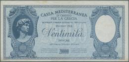 Greece / Griechenland: 20.000 Drachmai ND(1941) P. M9, Never Folded, Only Light Handling In Paper An - Greece