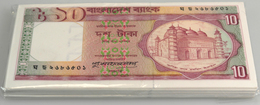 Bangladesh: Origial Bundle Of 100 Pcs 10 Taka ND P. 25c In UNC. (100 Pcs) - Bangladesh