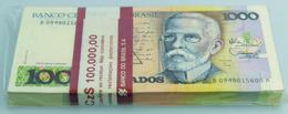 Brazil / Brasilien: Bundle With 100 Pcs. Brazil 1000 Cruzados 1988, P.213b In AUNC/UNC - Brésil
