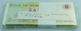 Sudan: Bundle With 100 Pcs. Sudan 5 Dinars 1993, P.51 In UNC - Soudan