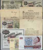 Sweden / Schweden: Large Lot Of About 300 Notes Containing The Following Pick Numbers In Different Q - Suède