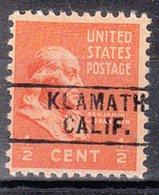 USA Precancel Vorausentwertung Preo, Locals California, Klamath 745 - Vereinigte Staaten