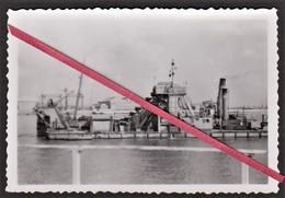 """76 LE HAVRE -- Photo Originale Drague Du Port Autonome En Action _ Bateau _ (appelé Aussi """" La Marie-Salope """") - Bateaux"""