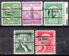 USA Precancel Vorausentwertung Preo, Locals California, La Canada 734, 5 Diff. - Vereinigte Staaten