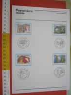 D.01 BOLLETTINO ILLUSTRATO ANNOUNCEMENT POST ITALIA - 2005 TURISMO REGIONI MILANO TRIESTE NAPOLI CATANZARO - Holidays & Tourism