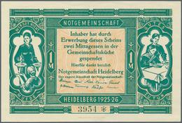 Deutschland - Notgeld - Baden: Heidelberg, Notgemeinschaft Heidelberg, 1 Mark (= Zwei Mittagessen), - [11] Emissions Locales