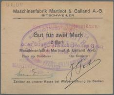 Deutschland - Notgeld - Elsass-Lothringen: Bitschweiler, Oberelsass, Maschinenfabrik Martinot & Gall - Allemagne