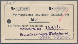 Deutschland - Notgeld - Niedersachsen: Delmenhorst, Deutsche Linoleum-Werke Hansa, 50 Pf., 1, 2, 3, - [11] Emissions Locales