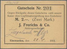 Deutschland - Notgeld - Niedersachsen: Einswarden, J. Frerichs & Co. Aktiengesellschaft, 1 (2), 2 (3 - [11] Emissions Locales