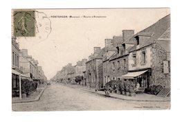 CPA 50 - Pontorson ( Manche ) - Route D'Avranches , âne Ou Mule - Pontorson