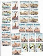 Jordan 1966 Animlas, Birds Strp Of 3 Sets 9 V.complete MNH- Nicde & Scarce Topical Issue - Red. Price - SKRILL PAY ONLY - Jordan