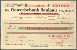 Deutschland - Notgeld - Württemberg: Saulgau, Amtskörperschaft, ½, 1, 5, 10, 20, 50 Mio., 5, 10, 50, - [11] Emissions Locales