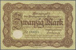 Deutschland - Notgeld - Württemberg: Stuttgart, Stadt, 6 X 50 Pf., 5, 20 Mark, 1918; 100, 2 X 500 Ma - [11] Emissions Locales