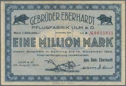 Deutschland - Notgeld - Württemberg: Ulm, Stadt, 5, 10, 20 Mark, 22.10.1918, 500 Mark, 10.10.1922, 5 - [11] Emissions Locales
