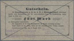 Deutschland - Notgeld - Ehemalige Ostgebiete: Schlesien, Notgeld Von 1914, Lot Von 96 Verschiedenen - Allemagne
