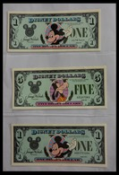 Varia: 1987-2014: Beautiful Collection, Mosty Uncirculated Disney Dollars (banknotes Valid In Disney - Autres Collections