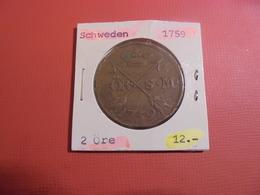 SUEDE 2 ÖRE 1759 (A.3) - Suède