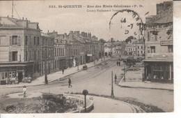 02DB01Q525 CPA 02 - 525.ST QUENTIN  RUE DES ETATS GENERAUX    V1925 - Saint Quentin