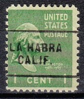 USA Precancel Vorausentwertung Preo, Locals California, La Habra 703 - Vereinigte Staaten