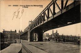 CPA PARIS 16e Viaduc Du Metropolitain A Passy (574194) - Métro Parisien, Gares