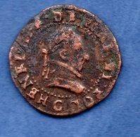 Henri  III  --  Double Tournois   1580 G  - état  TB - 987-1789 Royal