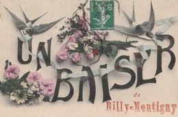 CPA 62 BILLY-MONTIGNY FANTAISIE UN BAISER  HIRONDELLES - France