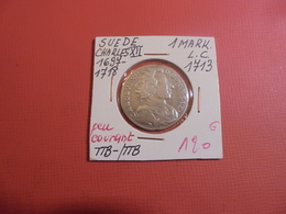 SUEDE 1 MARK 1713 L.C RARE ! (A.3) - Suède