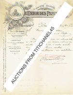 Lettre De 1901 - BRUXELLES - LA HULPE - MONT ST-GUIBERT - SAINT-SERVAIS - UNION DES PAPETERIES - België