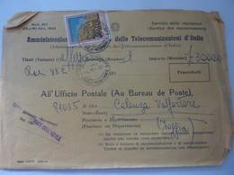 """Busta Viaggiata """"CASSA DI RISPARMIO DELL'AQUILA"""" Per Celenza Valforte ( FG ) 1969 - 1961-70: Marcophilia"""