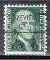 USA Precancel Vorausentwertung Preo, Locals California, Lakeview 841 - Vereinigte Staaten