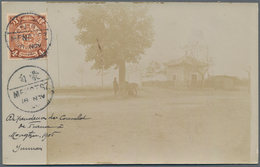 China: 1906. Photographic Post Card Of 'The French Consulat In Mongtze For The Yunnan Railway' Addre - China