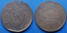 CHINA - 100 Cash ND (ca.1928) Ho Nan Province Y# 395 Republic Of China (1912-1949) - Edelweiss Coins - Chine